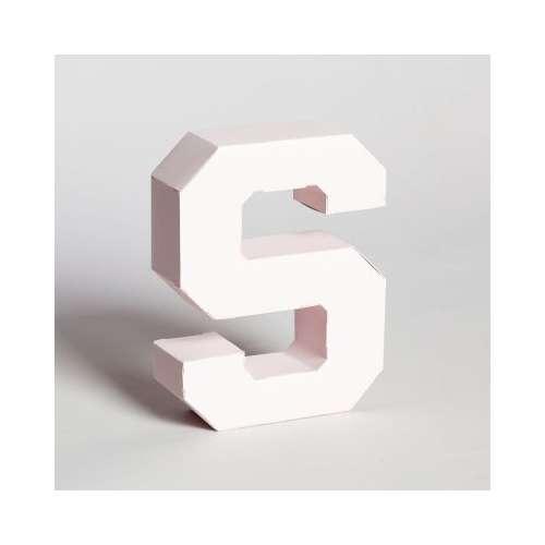 Lettre en 3D en carton à monter soi-même, Rose
