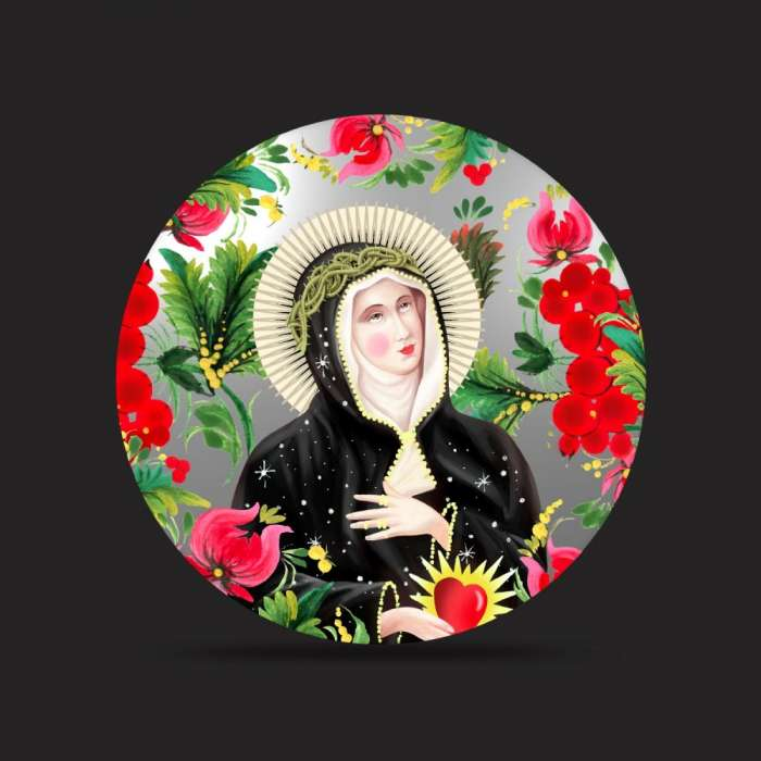 Miroir peint, Santa Veronica, SANTHONORE