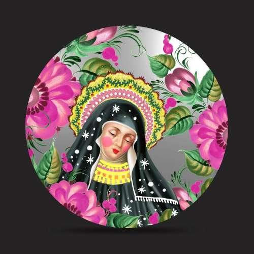 Miroir peint, Santa Gertrude, SANTHONORE