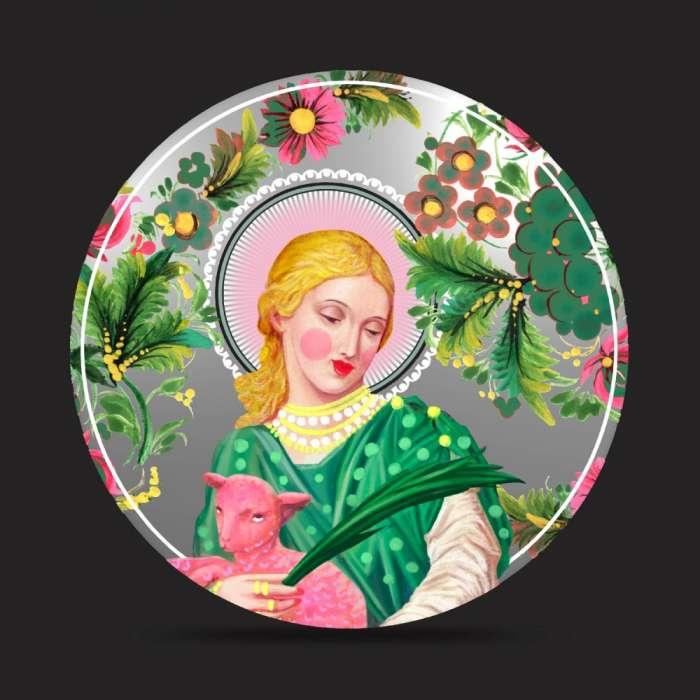 Miroir peint, Santa Agnese, SANTHONORE