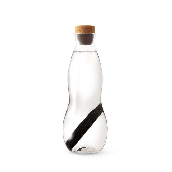 Carafe en verre 1L avec filtre Charbon , bouchon liège - Black and Blum