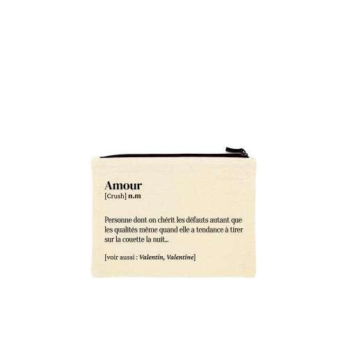 Trousse Amour, Coton Bio, cadeau st Valentin