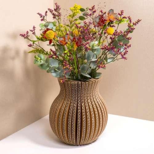 Vase En Carton Recyclé, Classique - France