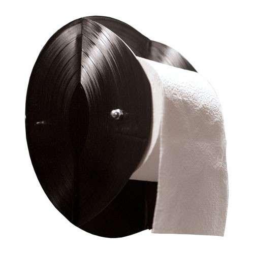 Dérouleur papier toilette WC original, vinyle recyclé