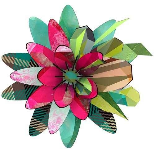 Fleur Décorative en Bois Aurora Boréalis - MIHO