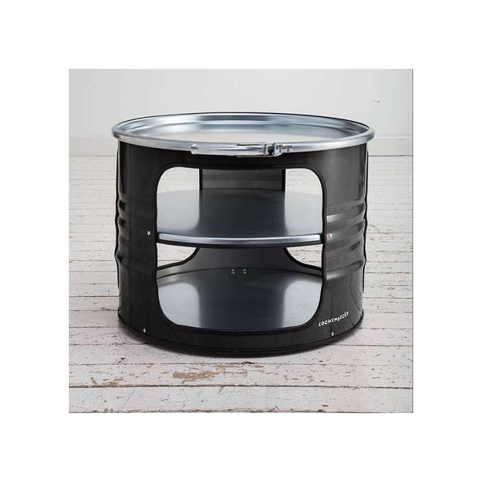 BIDON: TABLE BASSE - NOIR Bidon d'huile recyclé
